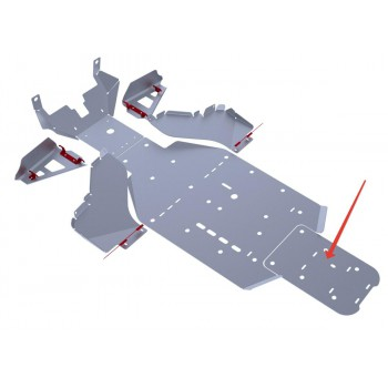 Защита заднего редуктора Rival для BRP (Can-Am) Commander 1000 2011-2014, 4.7204.2-3