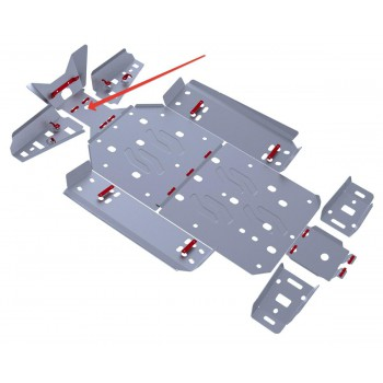 Защита переднего редуктора Rival для Polaris UTV RZR S 800 2011-2014, 4.7402.1-1