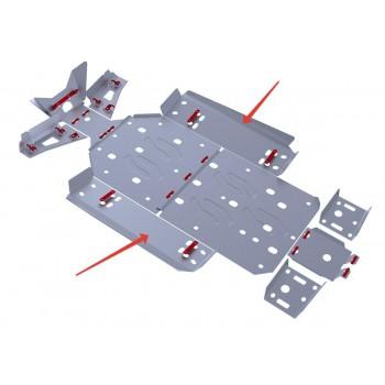 Защита порогов Rival для Polaris UTV RZR 800 EFI 2013-2014, 4.7408.2-5