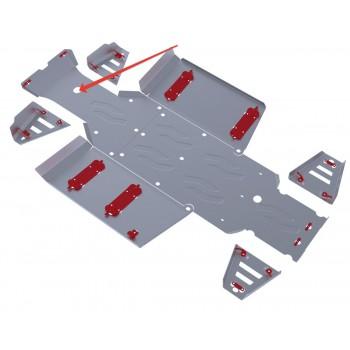 Защита переднего редуктора Rival для Polaris UTV Ranger 400 2013-2014, 4.7415.1-1