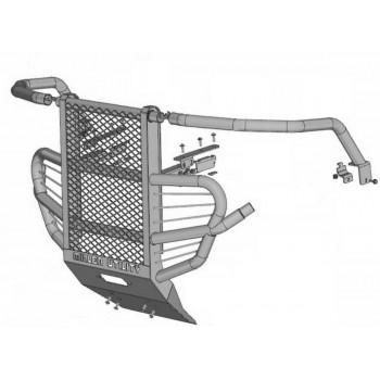 Бампер передний (БуллБар) Rival для Suzuki KingQuad 750 Axi 2008-, 444.5505.1
