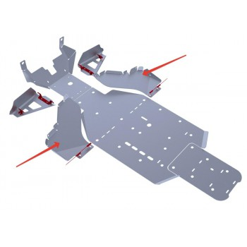 Защита порогов Rival для BRP (Can-Am) Commander 1000 2011-2014, 4.7204.2-4