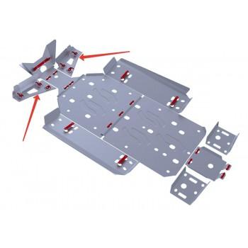 Защита передних рычагов Rival для Polaris UTV RZR 800 EFI 2013-2014, 4.7408.2-6