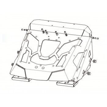 Вынос радиатора (с шноркелем) Rival для CF Moto X5 H.O. 2015-/500 A/2A 2011-, 444.6870.1