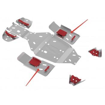 Защита порогов Rival для Stels ATV 500 GT 2010-, 4.6707.3-3