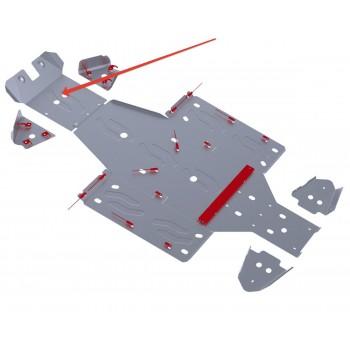 Защита переднего редуктора Rival для Yamaha UTV Rhino 2011-, 4.7102.1-1
