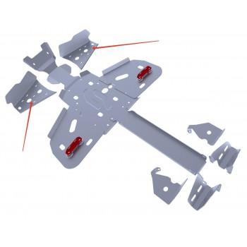 Защита передних рычагов Rival для BRP (Can-Am) Outlander ATV 800/650/400 2011-2012, 4.7202.1-6