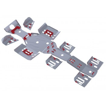 Комплект защит днища Rival для Polaris Sportsman 6*6 800 EFI BIG BOSS 2011-2014, 444.7411.1