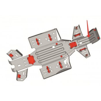 Защита переднего редуктора Rival для CF Moto ATV 2011-, CF.0021-1