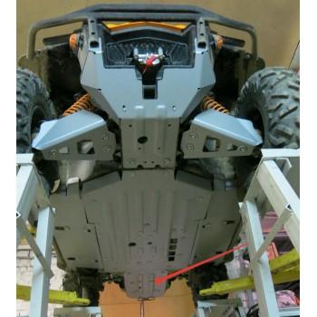 Защита заднего редуктора Rival для BRP (Can-Am) Commander 1000 XT-P 2015-, 4.7219.1-3