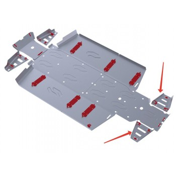Защита задних рычагов Rival для Polaris UTV Ranger Crew 800 2013-2014, 4.7416.1-8