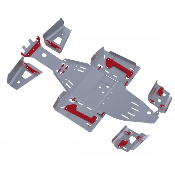 Комплект защит днища Rival для Polaris Scrambler ATV 1000 2013-, 444.7423.1