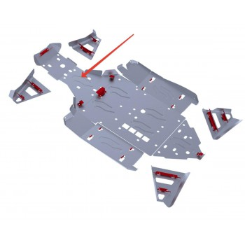 Защита переднего редуктора Rival для BRP (Can-Am) Maverick 1000 2013-, 4.7207.2-1