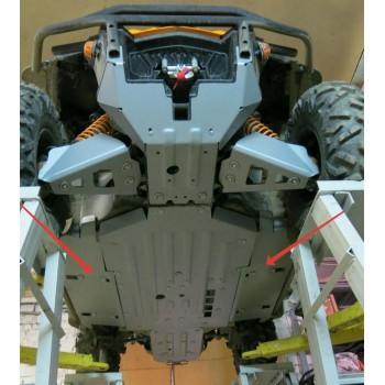 Защита порогов Rival для BRP (Can-Am) Commander 1000 XT-P 2015-, 4.7219.1-4