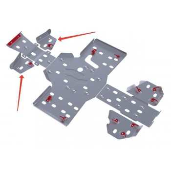 Защита передних рычагов Rival для RM Gamax AX 600 2010-, 4.7701.1-4