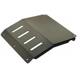 Защита радиатора Mitsubishi L200 2005+ под накладку РИФ на пер. бампер (сталь)