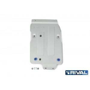 Защита КПП и РК + комплект крепежа, Rival, Алюминий, Jeep Wrangler JL 2018-, V-2.0T; 3,6; 2.2D 2333.2745.1.6