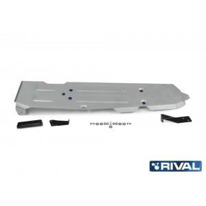 Защита топливного бака + комплект крепежа, Rival, Алюминий, Jeep Wrangler JL (5 дверей) 2018-, V-2.0T; 3.6; 2.2D 2333.2747.1.6