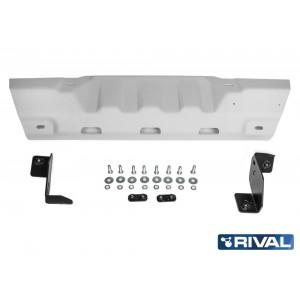Защита рулевых тяг под алюминиевый бампер + комплект крепежа, RIVAL, Алюминий, Jeep Wrangler JL 2018-, V - 2.0T; 3.6 2333.2758.1.6