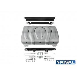 Защита радиатора Rival для Fiat Fullback 2016-н.в./Mitsubishi L200 2015-н.в./Pajero Sport 2016-н.в., алюминий 4 мм, с крепежом, 333.4046.2