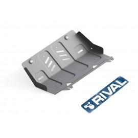 Защита радиатора Rival для Fiat Fullback 2016-н.в./Mitsubishi L200 2015-н.в./Pajero Sport 2016-н.в., алюминий 6 мм, с крепежом, 333.4046.1.6
