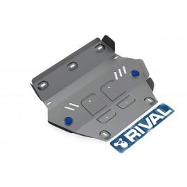 Защита радиатора Rival для Isuzu D-Max 2012-н.в., алюминий 4 мм, с крепежом, 333.9101.1