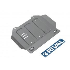 Защита картера Rival для Isuzu D-Max 2012-н.в., алюминий 6 мм, с крепежом, 333.9102.1.6