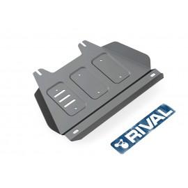Защита РК Rival для Isuzu D-Max 2012-н.в., алюминий 4 мм, с крепежом, 333.9104.1