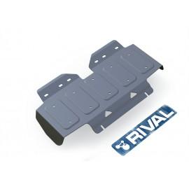 Защита радиатора Rival для Nissan Patrol 2010-н.в., алюминий 4 мм, без крепежа, 3.4121.1
