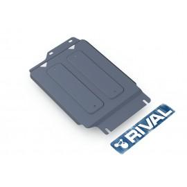 Защита РК Rival для Infiniti QX56 2010-2013/QX80 2013-н.в./Nissan Patrol 2010-н.в., алюминий 4 мм, с крепежом, 333.4124.2