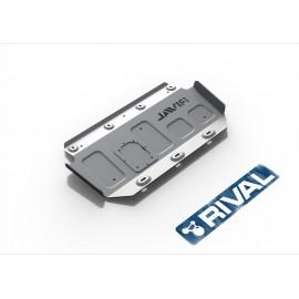 Защита топливного бака Rival для Toyota Tundra 2007-2018, алюминий 4 мм, с крепежом, 333.5750.1